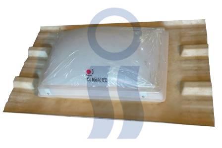 Claraboya 40x60 cm fija para chapa trapezoidal t-101