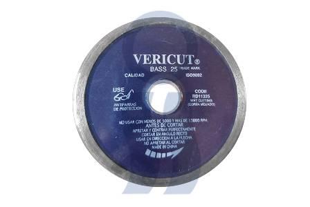 Disco diamantado liso Vericut