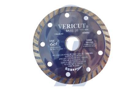 Disco diamantado turbo Vericut