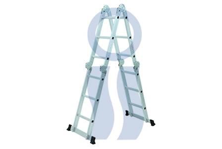 Escalera de aluminio 4 x 4 multiples usos