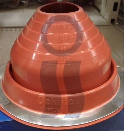 Pasatecho dektite silicon alta temperatura de 108 A 190 mm