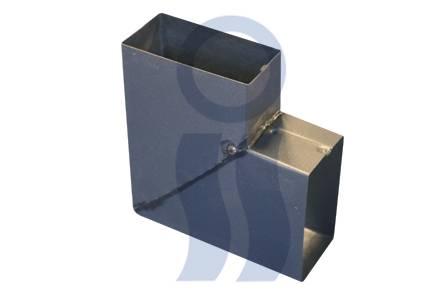 Codo negro costado a 90°  2 x 4 pulgadas
