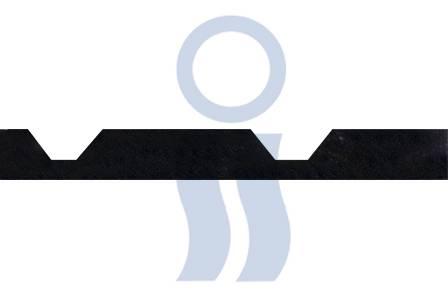Moldura poliuretánica para chapa trapezoidal de base x 9 mts