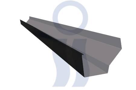 Canaleta prepintada moldura americana c25  x 2,44 mts