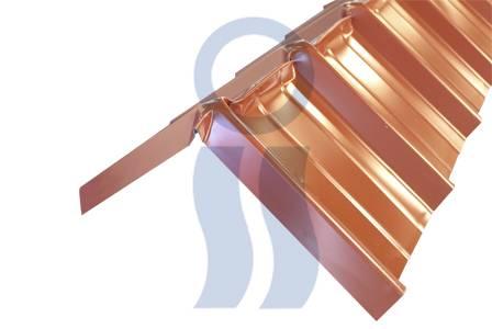 Cumbrera curvin Conformada para Tejado Metálico prepintada C25  x 1,10 mts.