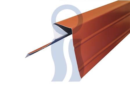 Cumbrera curvin asimétrica para Tejado Metálico x 2,44 mts varios colores