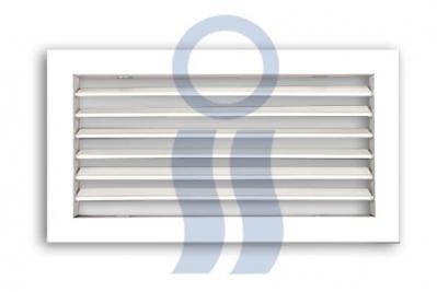 Rejilla ventilación fija de chapa blanca