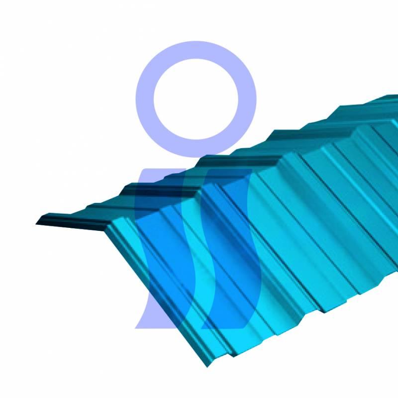 Cumbrera trapezoidal celeste x 1,10 mts oferta