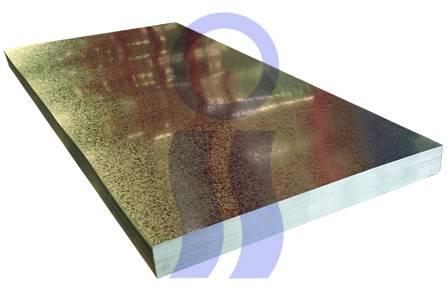 Chapa lisa galvanizada c22  1.22 x 2.44 mts