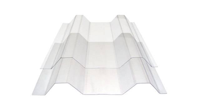 Policarbonato trapezoidal cristal  1.10 x 6 mts.
