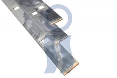 Hierro planchuela perforada cuadrada