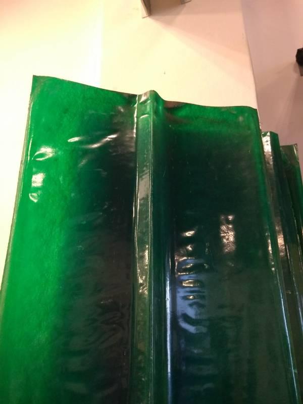 Cumbrera Plastica Lisa Verde