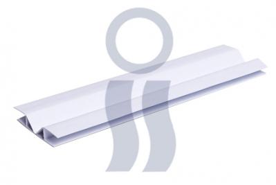 Unión flexible cielorraso pvc x 3 mts